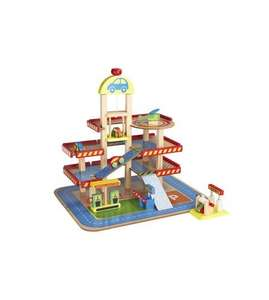 Wooden toy garage at Ace.co.uk for £29.99 + £4.99 delivery (free personalisation)
