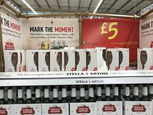 Buy 6 pack of Stella Artois 330ml bottles get free boxed Stella chalice £5 @ Asda