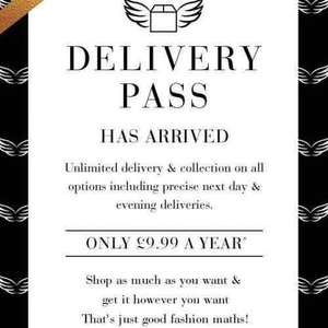£9.99 for a years  delivery @ New Look