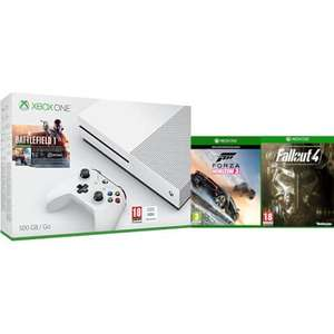 Xbox One S 500GB with Battlefield 1, Forza Horizon 3 & Fallout 4. Zavvi.com - £249.99