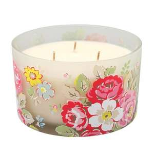 Cath Kidston Three Wick Boxed Glass Candles HALF PRICE - £15