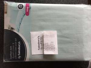 King size duck egg duvet set - £8.60 instore @ Sainsbury's
