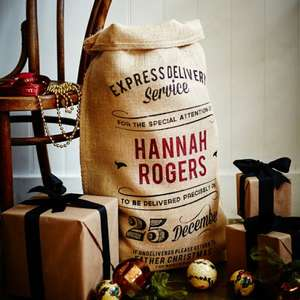 Handmade Christmas Co - Personalised Christmas Sacks - £10 Delivered (with Code)