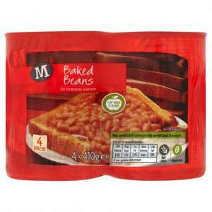 morrisons beans 4 pack for £1 (instore or home delivery charge applies)