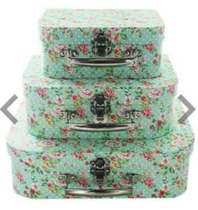 Small Suitcase Storage Boxes, two sets for £10 (or £7each) at The Works
