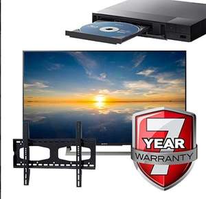 "Sony 43"" 4K HDR SMART TV + Free Sony Blu-ray + Free wall bracket + Free 7 year extended warranty + Free delivery - £649 @ TPS UK"