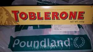 Toblerone 400g bar £2 @ Poundland