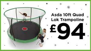 10ft trampoline with enclosure @ asda £94