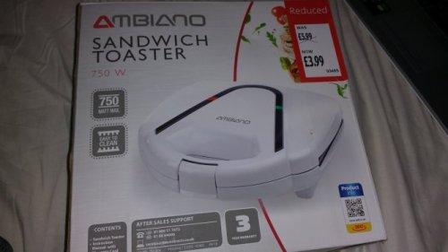 Ambiano sandwich toaster - £3.99 - Aldi (instore)