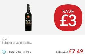 Taylor port 75cl £7.49 co-op