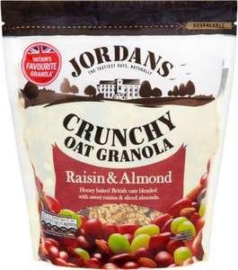 Jordans Crunchy Oat Granola Raisin and Almond (850g) Half Price was £2.99 now £1.49 @ Tesco