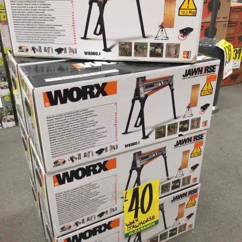 Worx Jawhorse Workbench with Tool Tray - £40 @ Homebase