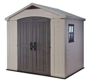 Keter 8X6ft shed price drop to £344 from £527 at Amazon
