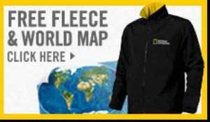National Geographic 1 year subscription @ £15 welcome back offer+FREE fleece+FREE World Map+FREE Access to Nat Geo Plus