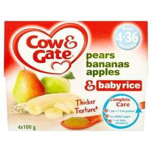Boots Cow & Gate Fruit Pots 2 x 4 packs £1.50 Parenting Club Only