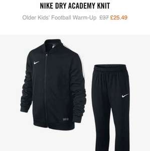 boys Nike football training tracksuit £20.39 with code Nike Store