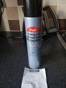 Punch raingard weather proofer 99p @ home bargains ****in store only****
