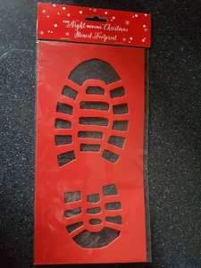 Santa footprint stencil @ Home bargains back in stock this year only 49p ***in store only****