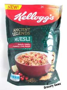 Kellogg's Ancient Legends Muesli - Quinoa, Apple, Cranberry & Chia Seeds - 2 x 450g packets for £1 at Heron Foods