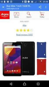 Alba 7 Inch 16GB Wi-Fi Tablet, 2 free cases, HD,  2 year warranty. Best price I found for something like this £39.99 @ Argos