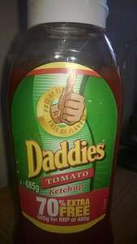 Tomato Ketchup  70% free   - DADDIES £1 Poundland