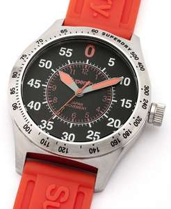 Mens Superdry compound sport watch in red was £79.99 now £29.99 Save £50 @ eBay sold by Superdry