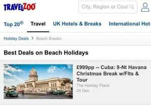 Christmas and New Years in Cuba for less then £1000!!!! - £999 @ Travel zoo