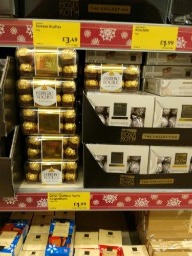 Ferrero Rocher 16 pieces £3.49 in Aldi Cannock