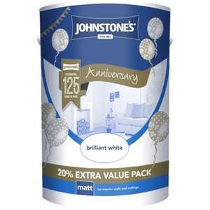 Johnstone's Brilliant White - Matt Emulsion Paint - 6L - £6.93 'in store only' at Homebase.