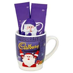 Cadbury Christmas Gift Mug Set inc Mug, 2 hot chocolate sachets and Santa Chocolate bar - £3 Tesco