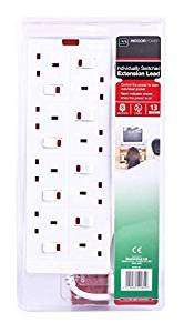 Masterplug 8 socket switched lead extension. £14.99 (Prime) £19.74 (Non Prime) @ Sold by Bamford Trading and Fulfilled by Amazon