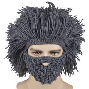 Stylish Beard and Afro Hair Shape Design Knitted Hat £9.76 @ Gearbest