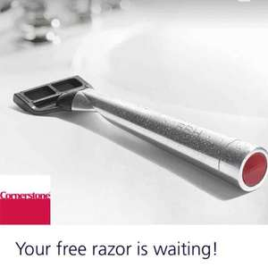 FREE personalised Razor & Shave Gel (£2 delivery and membership costs) @ O2 Priority/Cornerstone
