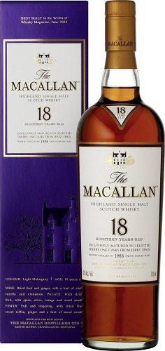 Macallan Whisky Sherry Oak Malt 18 Year Old - £143.85 Amazon