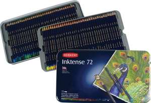 Derwent Inktense Watercolour Pencils Tin - Set of 72 £39.99 @ Amazon