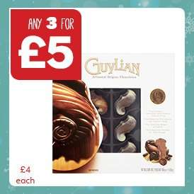 Assorted Boxed Chocolates inc. Guylian, Quality Street, Black Magic etc - 3 for £5 @ One Stop