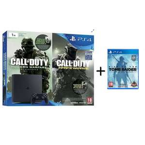 PS4 Slim 1TB Console Call of Duty Double pack (includes Modern Warfare Remastered and Infinite Warfare) (D-Chassis) +PLUS Rise of the Tomb Raider 20 Year Celebration PS4 @Tesco - £265.99