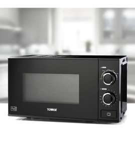 Tower 20L Black Microwave £29.99 + delivery @ Studio