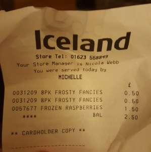 Mr Kipling Frosty Fancies 50p @ Iceland