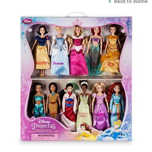 disney princess deluxe set 11 dolls £67.48 Disney store