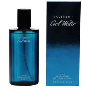 Davidoff Cool Water Deodrant Spray 75ml for £10 only + £4.99 Delivery or C&C @ Sports Direct - £14.99