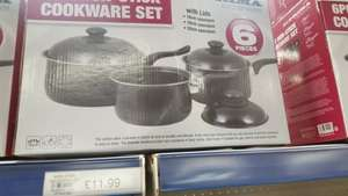 non stick saucepan set £11.99 @ Buyology instore