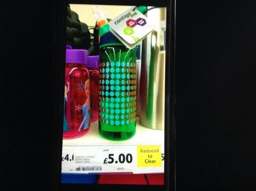 Contigo Striker bottle India green half price at £5, instore Tesco Southampton