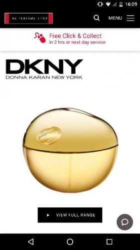 dkny golden delicious 100ml £29.99 @ The Perfume Shop