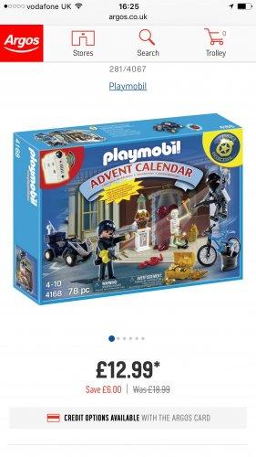 Playmobil Advent Calendar - Police & Pony Farm now £12.99 each Delivered at Argos
