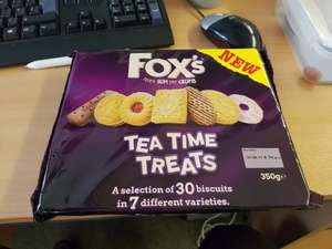 Fox's Biscuits - Tea Time Treats - 30 Biscuits For £1.00 at Burnley Home Bargains