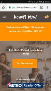 60% off honest brew £9 delivered
