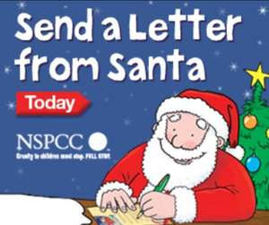 personalised letter from santa from nspcc for a donation