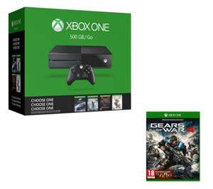 PCWorld - Xbox One 500Gb - Gears of War 4 + Choose a game - £169.99