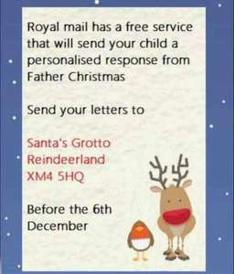 Christmas letter royal mail (stamped addressed envelope required)
